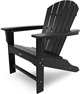 trex outdoor furniture cape cod adirondack chair charcoal black black outdoor furniture