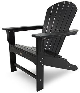 Trex Outdoor Furniture Cape Cod Adirondack Chair, Charcoal Black