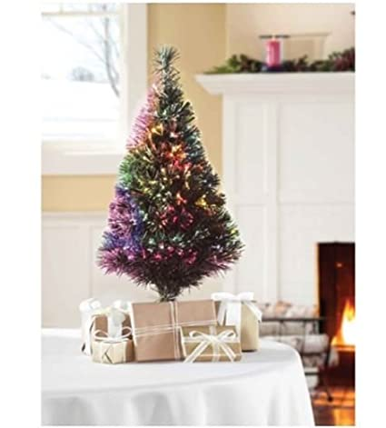Marvelous 32u0026quot; Green Fiber Optic Color Changing Artificial Christmas Tree LED  Lights