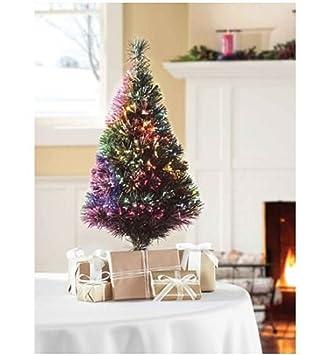 32 green fiber optic color changing artificial christmas tree led lights - Color Changing Christmas Tree