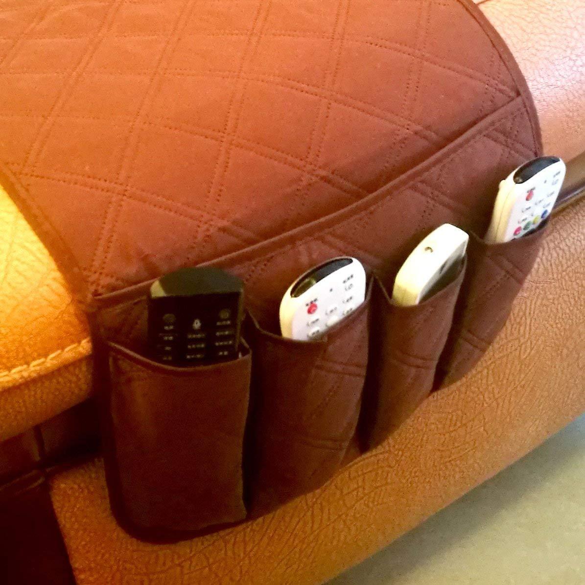 DoMoment Wasserdichte Pongee Sessel Sofa Stuhl Aufbewahrungstasche Fernbedienung Telefon Kleinigkeiten Halter Haushalt Nacht Organizer H/ängende Tasche