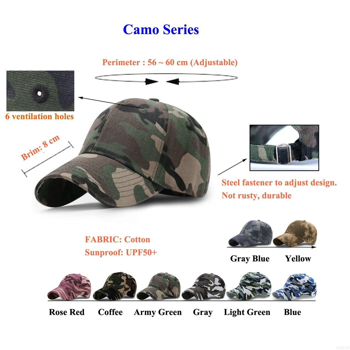 c0ccc34d GADIEMENSS Sports Hat Breathable Outdoor Run Cap Camo Baseball caps ...