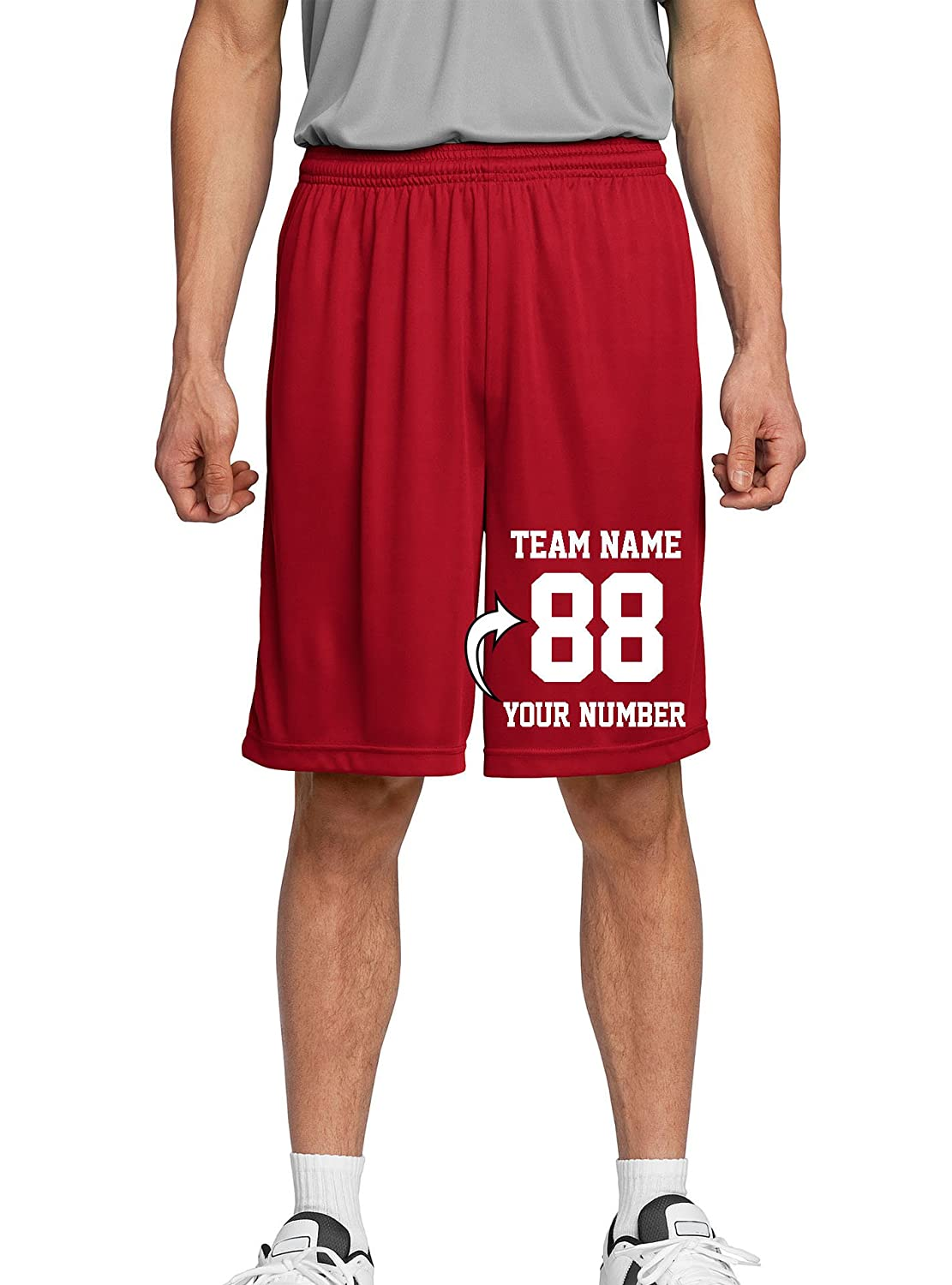 Make Your Own Short Personalized Team Uniforms Tee Miracle Custom Adult /& Youth Basketball Shorts