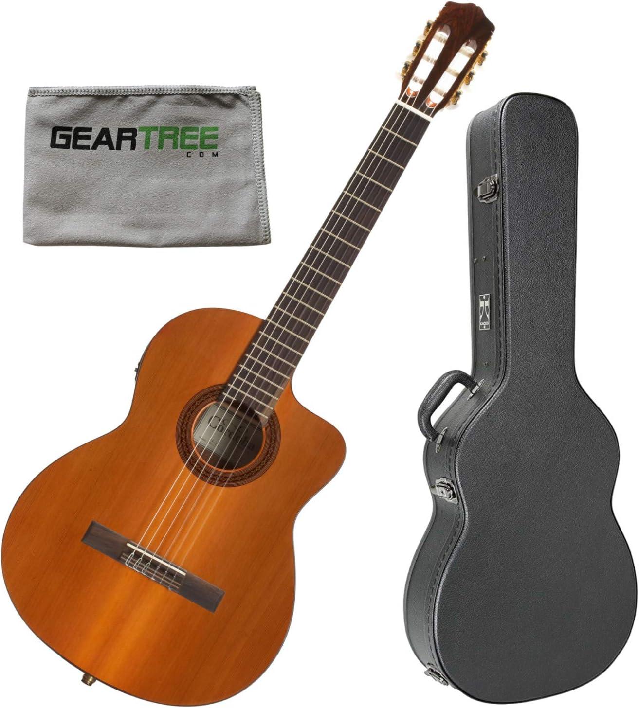 Cordoba C5 CET Limited - Guitarra acústica eléctrica (nailon, con ...