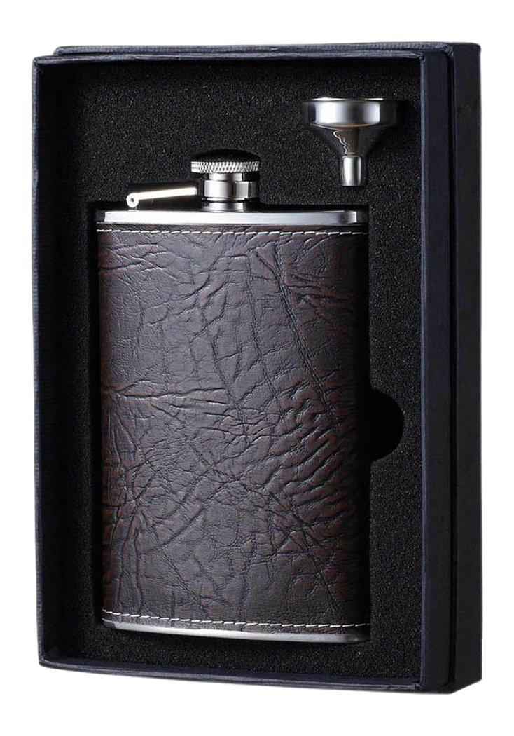 【人気商品!】 Visol B016RKPIA8 Holiday Essential Silver II Russell 240ml, Rustic Brown Leather Liquor Flask Gift Set, 240ml, Silver B016RKPIA8, アウトドア 自転車用品 PeachCraft:0adb49e2 --- buyanyproducts.com