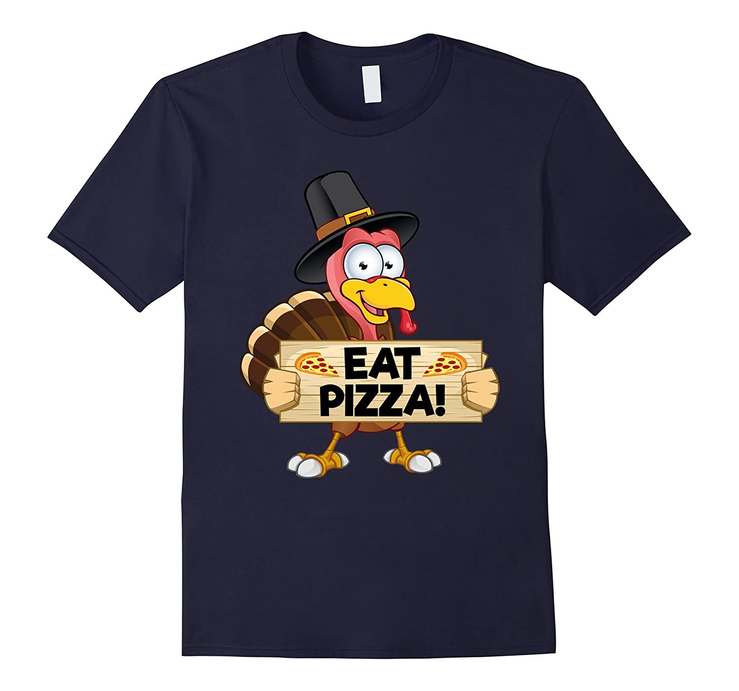 Turkey Eat Pizza Funny Thanksgiving Day T-Shirt Kids Adult-ANZ