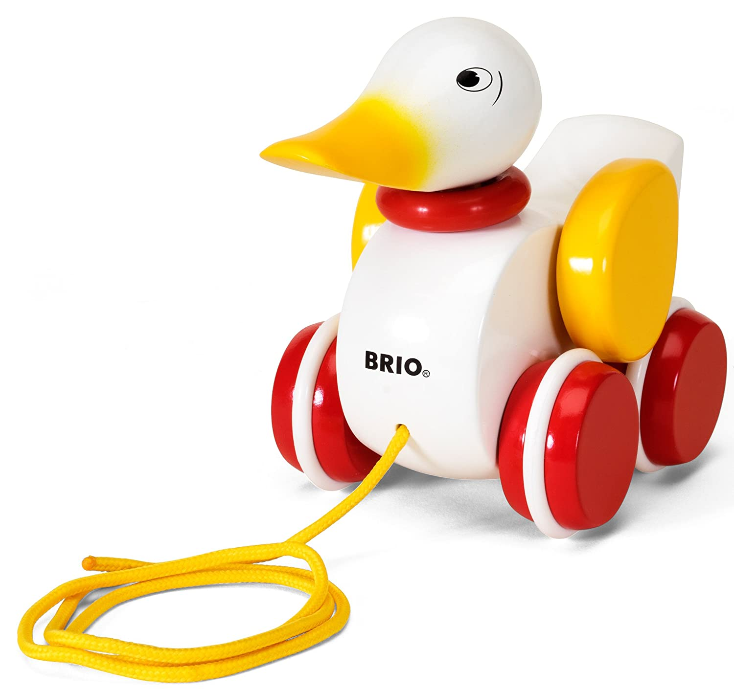 Amazon.com: BRIO Pull Along Duck Baby Toy: Toys & Games