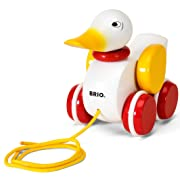 BRIO Pull Along Duck Baby Toy