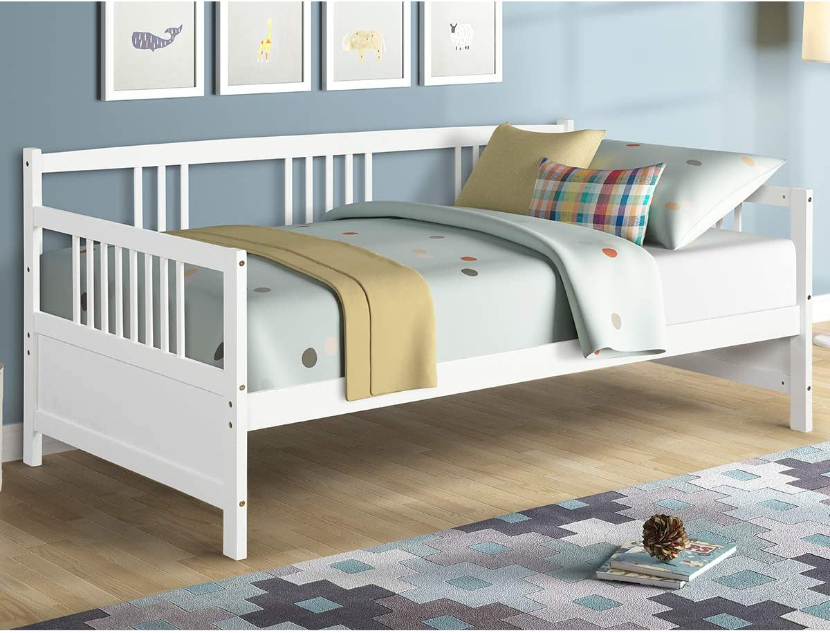 - Amazon.com: Giantex Wooden Daybed Frame Twin Size, Full Wooden