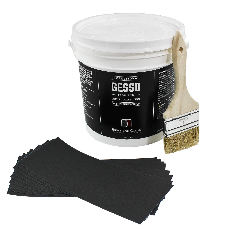 White Gesso Canvas Primer (1 Gallon Bundle) by Breathing Color