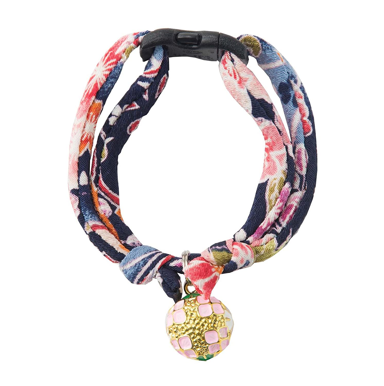 Kimono Fabric Handcrafted in Japan Necoichi Chirimen Hanabi Lucky Cat Collar 1 Size fits All
