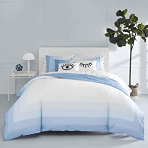 Now House by Jonathan Adler Vally Duvet Cover Set, King, Blue