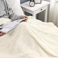 MIULEE Manta Blanket Franela para Sófas Mantas de Terciopelo Diseño Granulado para Siesta Suave Grande Cálida para Cama…