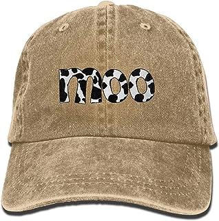quanzhouxuhuixiefu Cow Moo Denim Hat Adjustable Unisex Fitted Baseball cap
