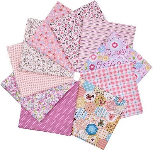 Souarts varios algodón Popelina tela Quarter – Lote de costura y manualidades, Patchwork Quilting tela 10pcs Rosa: Amazon.es: Hogar