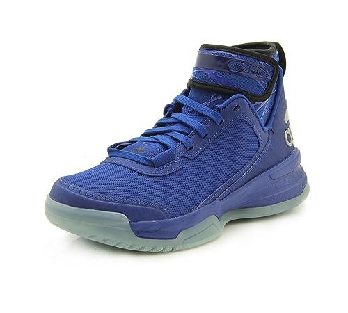 adidas Dual Threat BB J - Zapatillas para niño, Color Azul/Negro/Verde/Plata, Talla 35,5: Amazon.es: Zapatos y complementos