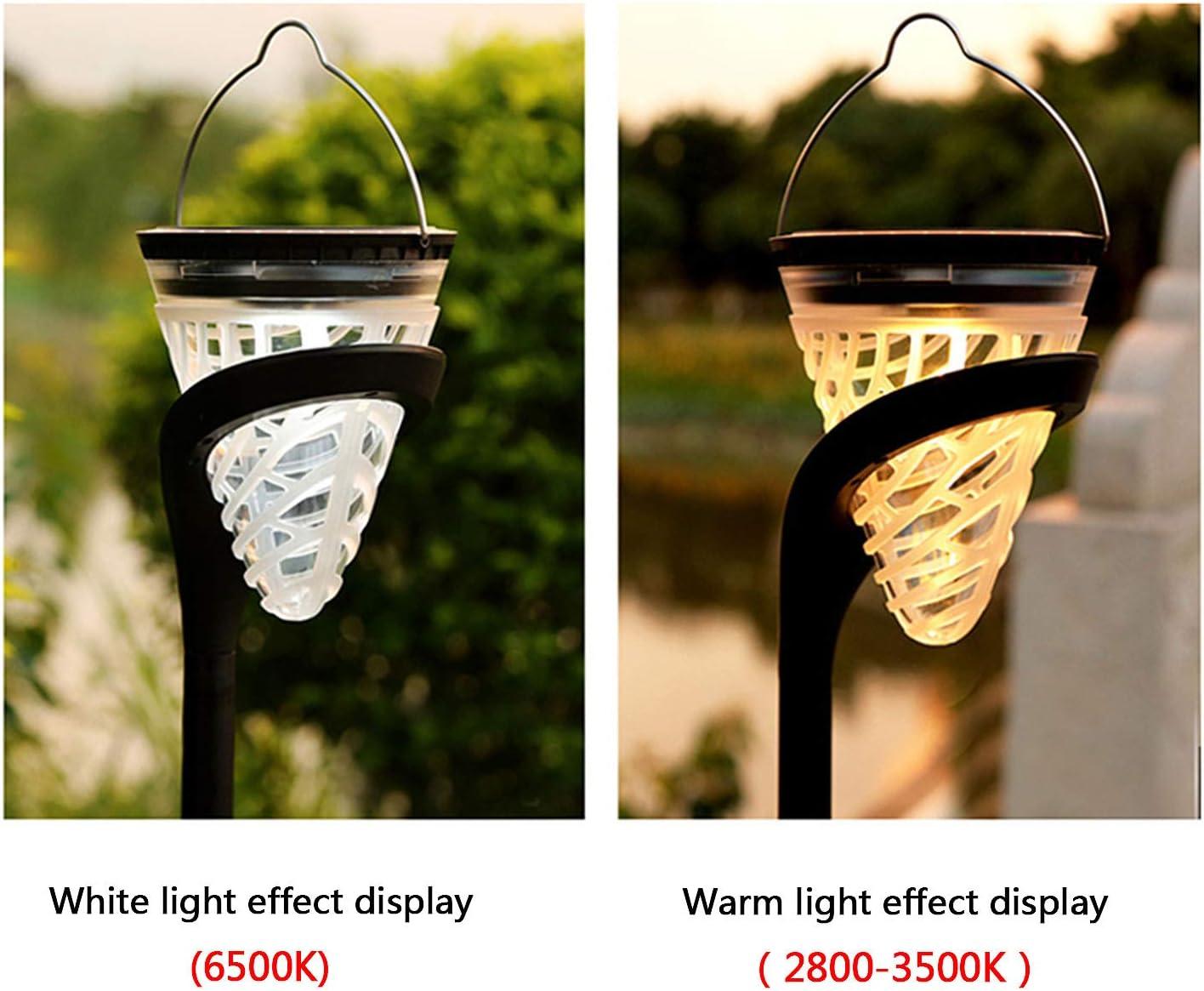 Warmwei/ß//Wei/ß ZWOOS 2 St/ücke Solar Wegeleuchten Wasserdichte LED Solarlampen f/ür Terrasse Rasen Garten Sehr Hell Solar Gartenleuchte