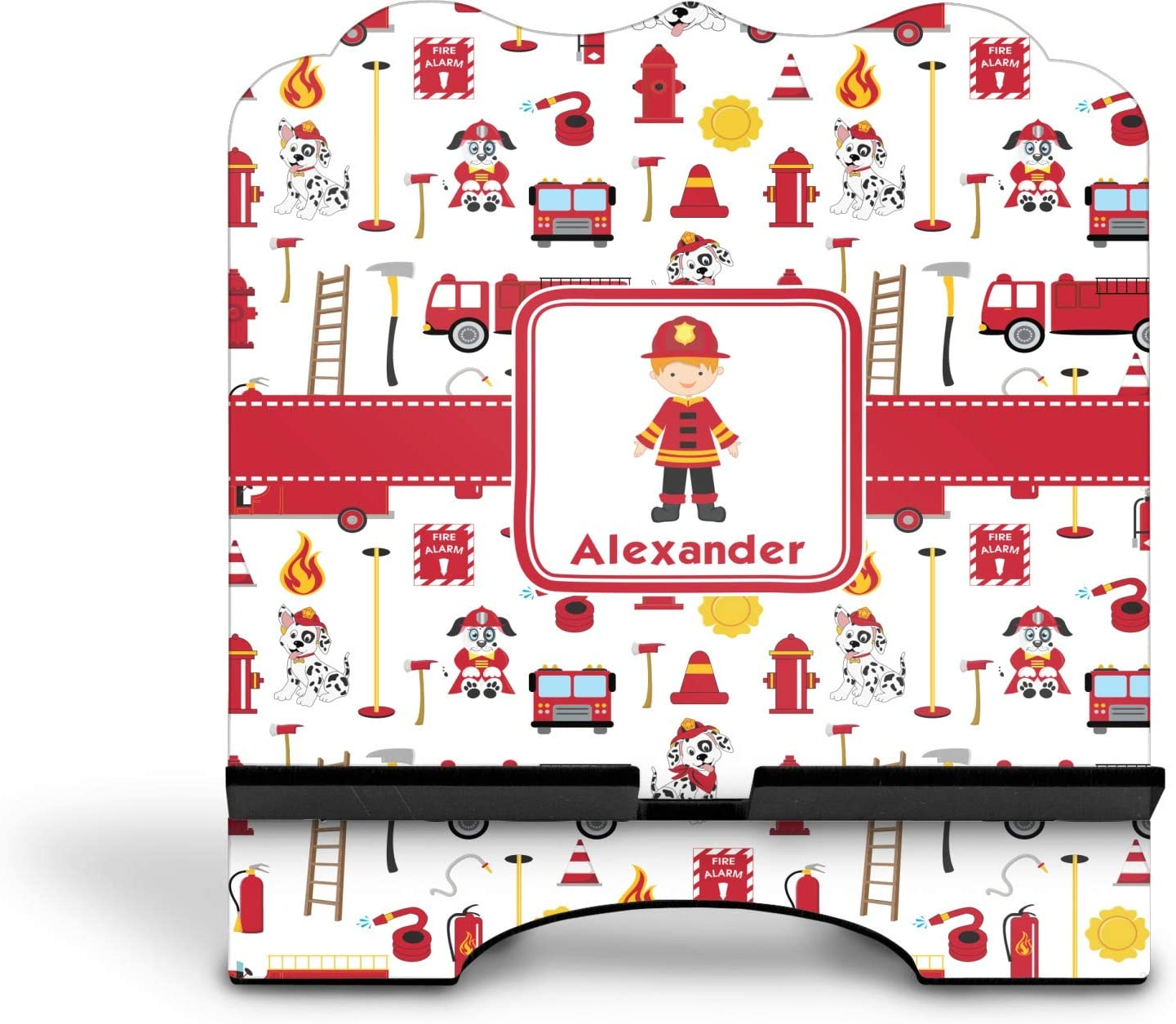 Personalized YouCustomizeIt Firefighter for Kids Stylized Tablet Stand