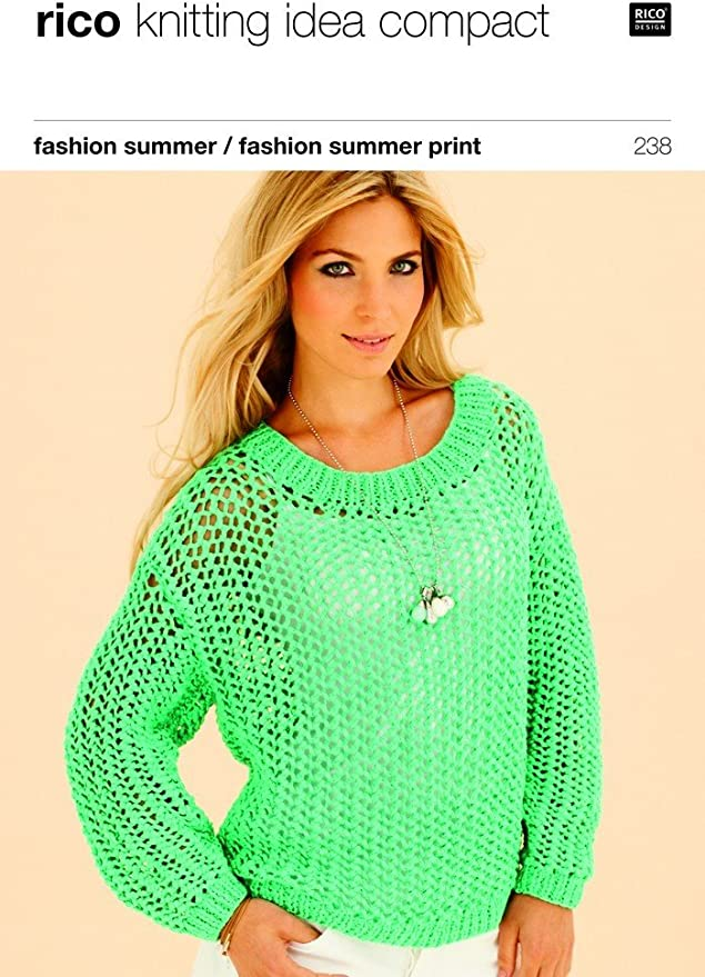 Rico Fashion Summer Knitting Pattern 238 Amazon Co Uk Kitchen Home