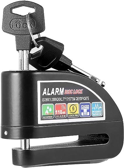 Magiin Candado con Alarma 6mm 110dB Candado de Disco Freno ...