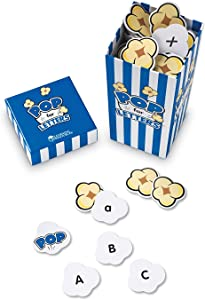 Learning Resources Pop for Letters, Early Phonics Game, Alphabet Recognition, ABCs, 8 Pop Cards, Ages 4+, Grades PreK+