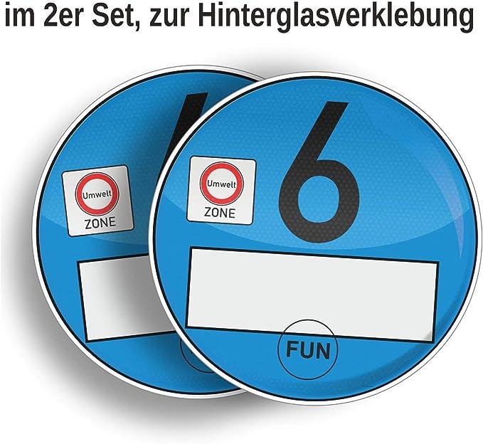 2er Set/'s Euro-6 Plakette Umweltplakette NEU Europlakette blau-transp DIESEL