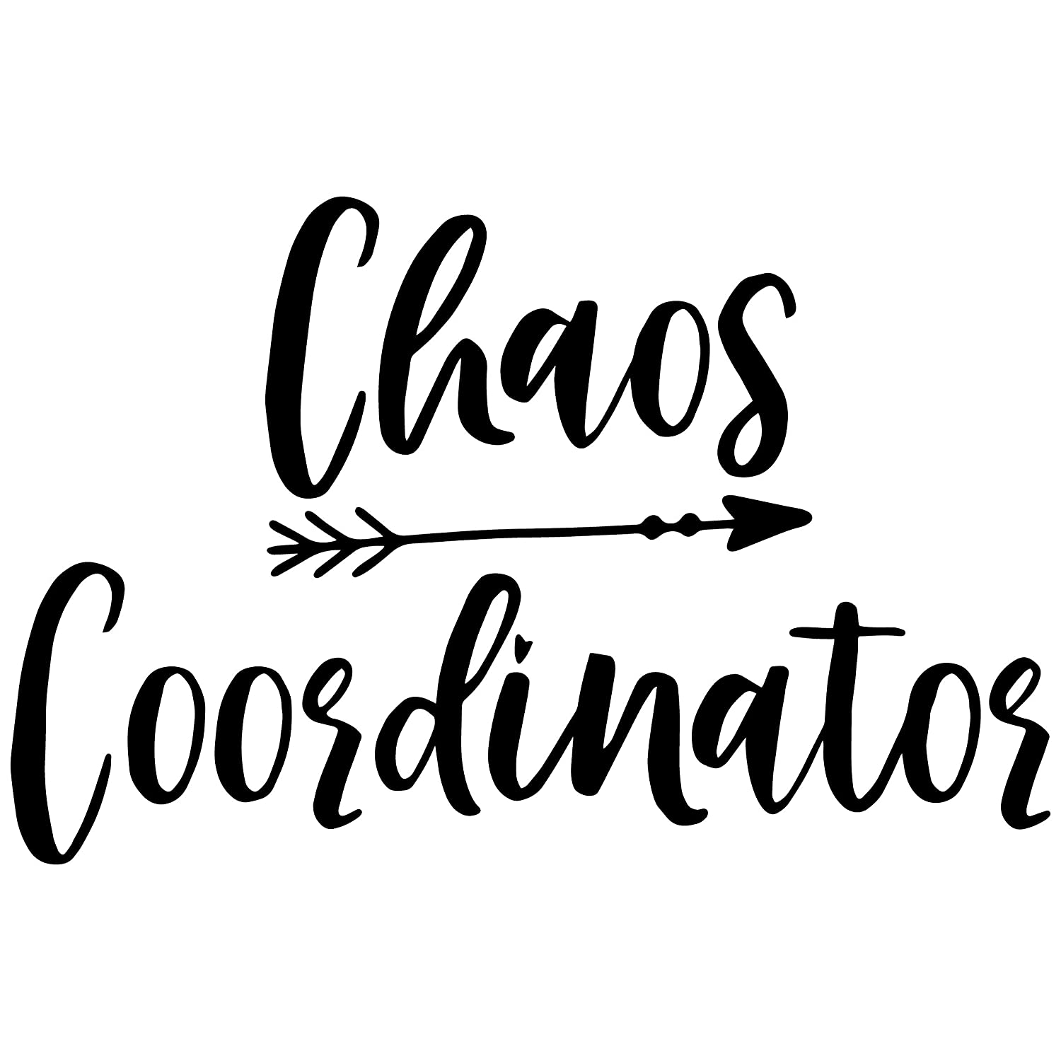 Chaos Coordinator permanent WHITE vinyl decal vinyl decal laptop decal creationsbychad