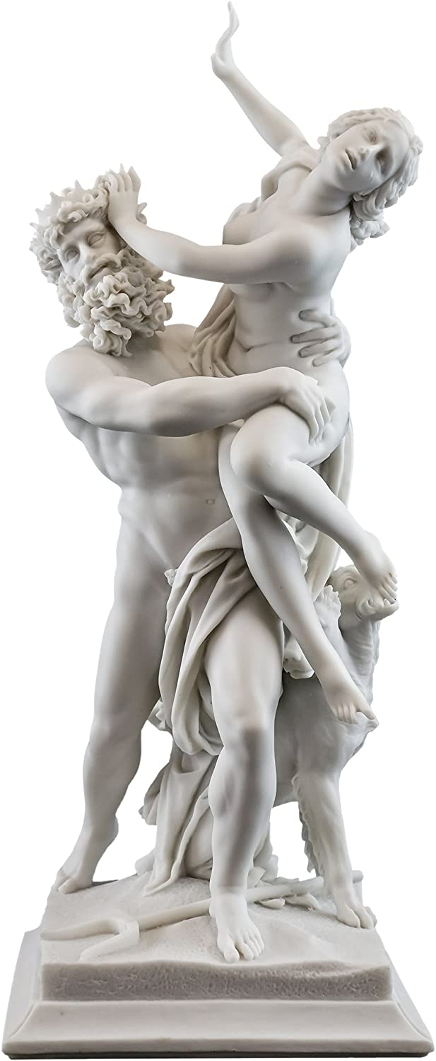 Pluto And Proserpina Hades And Persephone Statue H 14 Inch Original Marble Statue By Bernini In Rome