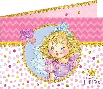 16 Teiliges Einladungs Set * PRINZESSIN LILLIFEE * Für Kindergeburtstag Und  Mottoparty //