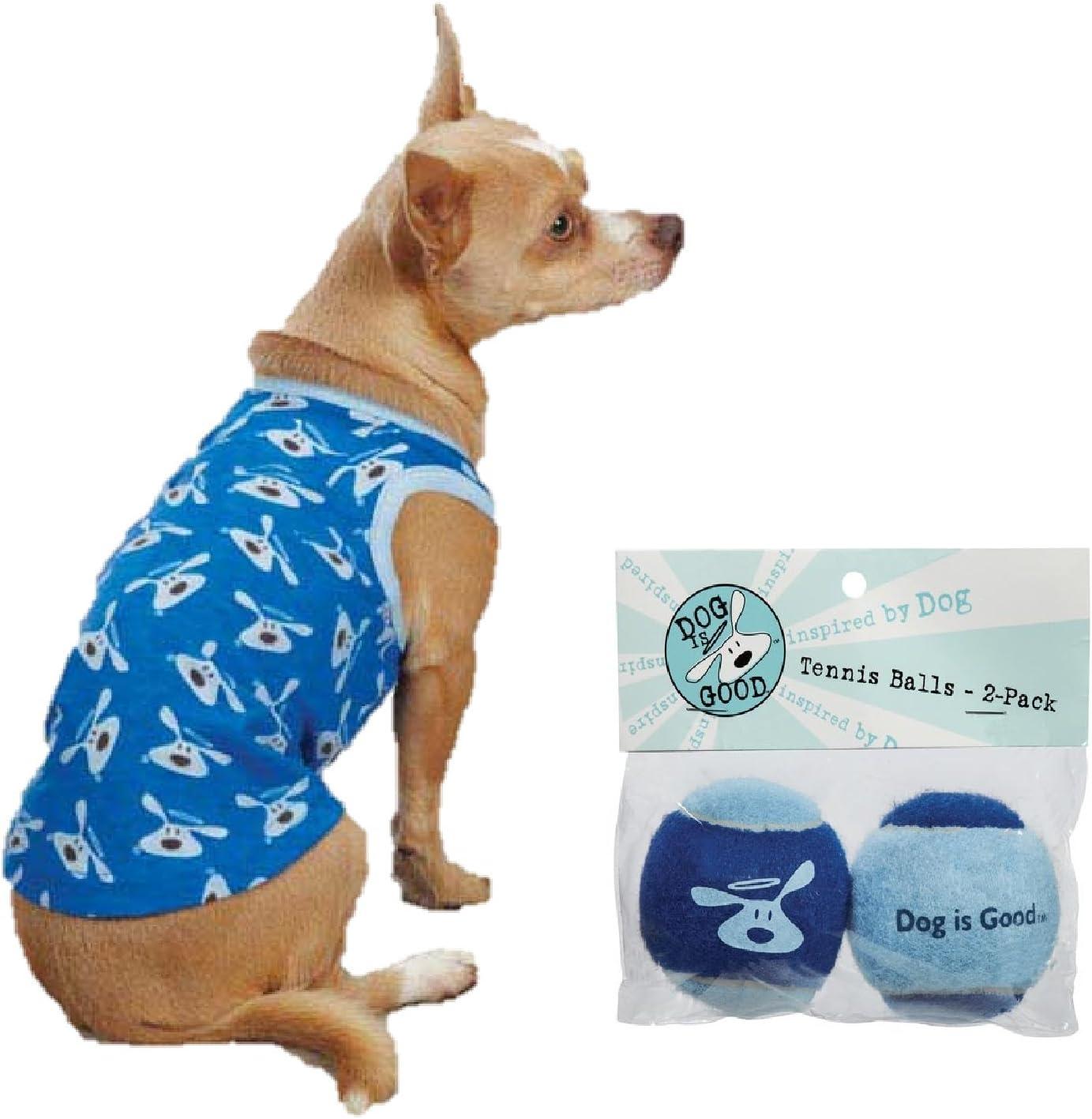 Bundle angelfalls/skydiver blue perro es buena bollo perro Tank Top y perro angelfalls/skydiver blue, ES Bueno pelotas de tenis – 2 Pack Dog Toy 2 piezas (Tamaño Grande): Amazon.es: Productos para mascotas