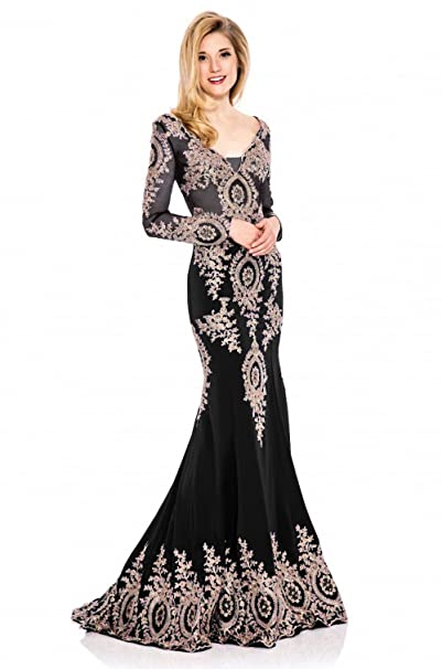Amazon Kings Love Womens Long Sleeve Evening Dress Mermaid