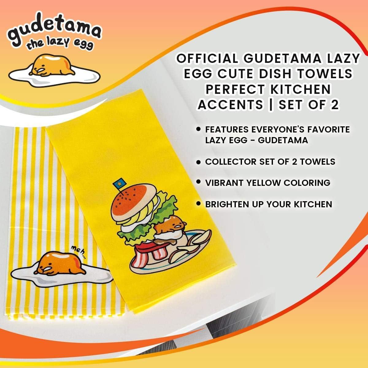 Set of 3 NEW SANRIO Gudetama Hand Towels