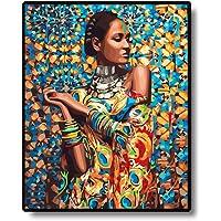 Gracorgzjs Frameless Indiano Ragazza Modello Pittura ad Olio di Numeri Dipinto a Mano da Parete Home Decor