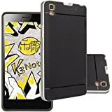 Lenovo K3 Note 5.5 Inch Case,Aomax® Armor [Dual Bumper] Slim Fit Skin Silicone Case + PC Bumper Frame+ Metallized Buttons for Lenovo K3 Note K50-T5 A7000 5.5 Inch (DHF Silver New)