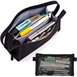 Pencil Case,Toplive [5 Compartments] [Mesh Pouch] Pencil Pouch Bag Pen Bag Holder Large Capacity for School Office Student Gi