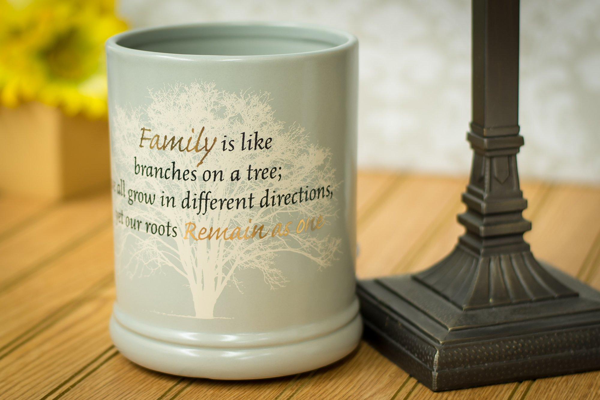 Elanze Designs Family Tree Ceramic Stoneware Electric Large Jar Candle Warmer by Elanze Designs (Image #2)