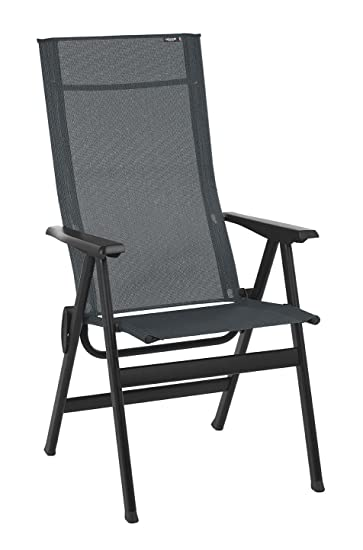 Amazon Com Lafuma Lfm2780 6897 High Back Chair Obsidian Garden