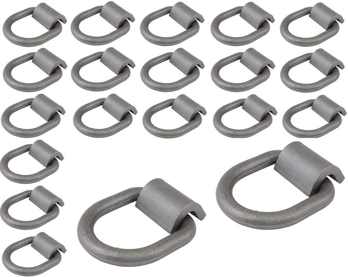 Mytee Products 12 Pack 1//2 Heavy Duty Weld-On Forged D Ring 12,000 Lbs