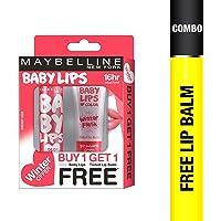 Maybelline New York Winter Promo, Cherry Kiss, 4g with Free Strawberry Crush, 9ml