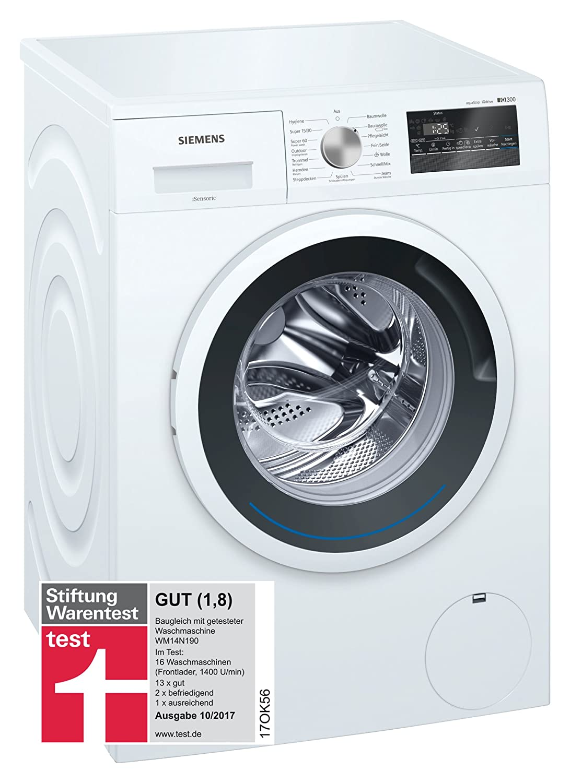 Siemens WM14N140 Waschmaschine Frontlader/A+++/1400 UpM/Nachlegefunktion