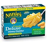 Annie's Gluten Free Macaroni and Cheese, Rice Pasta & Extra Cheesy Cheddar Sauce Mac and Cheese, 11 oz Box (Pack of 6)