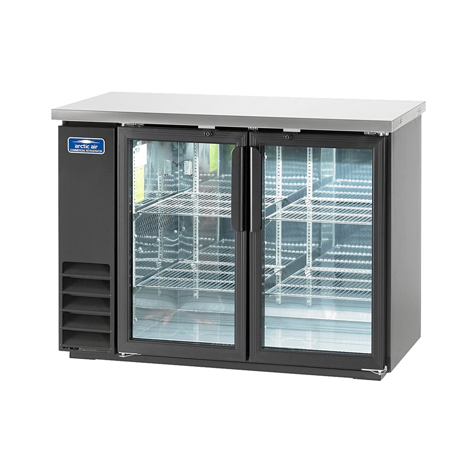 Arctic Air ABB48G Glass 49-Inch 2-Door Back Bar Refrigerator, 115v
