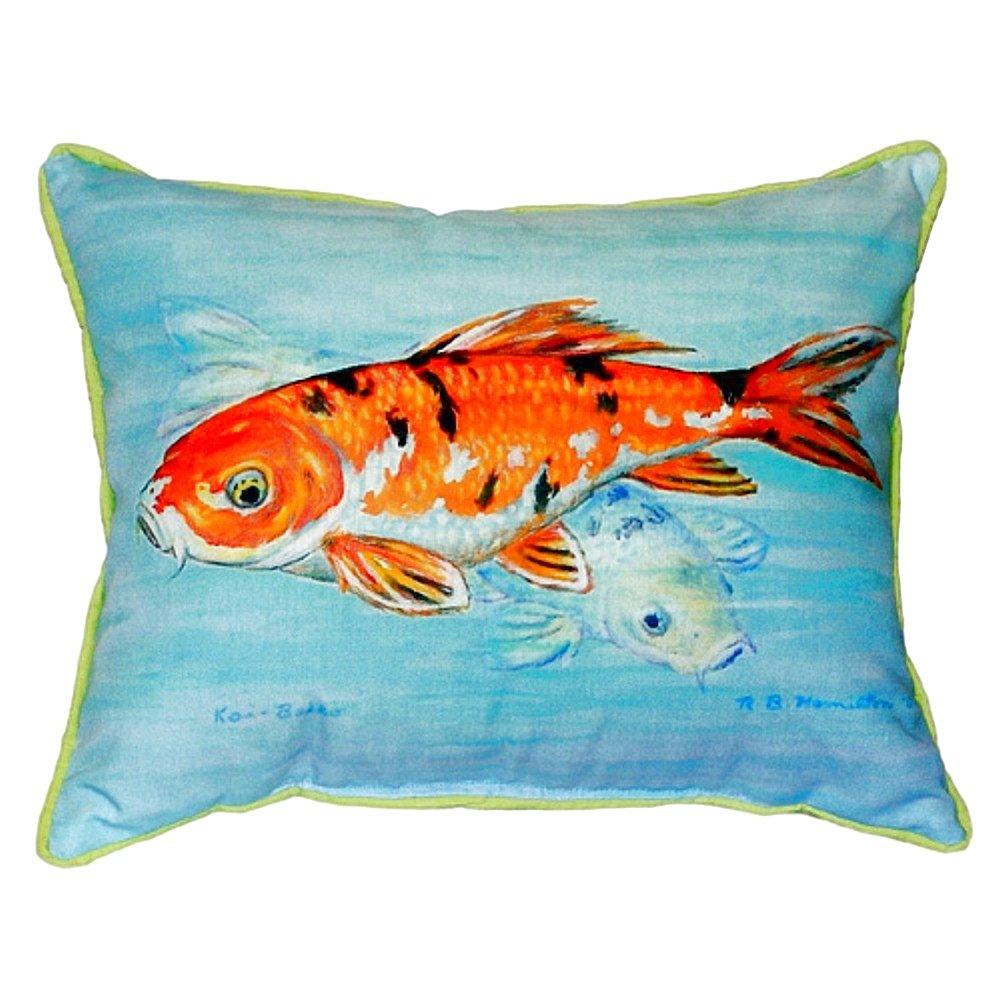 "Betsy Drake SN117 Koi Small Indoor/Outdoor Pillow,11"" X14"""