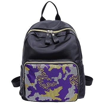 Widewing Mochilas mujer guess Las mochilas de nylon de las mujeres para las adolescencias viajan la mochila impresa ocasional de la pequeña escuela: ...
