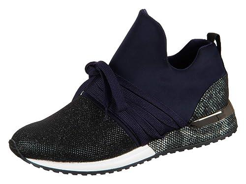 La Strada 1804189 4060 Damen Schuhe Sneaker Freizeitschuhe Blue Lycra