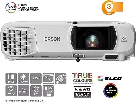 Opinión sobre Epson EH-TW650 Video - Proyector (3100 lúmenes ANSI, 3LCD, 1080p (1920x1080), 15000:1, 16:9, 762 - 7620 mm (30 - 300