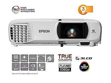 Epson EH-TW650 | Proyector Home Cinema Full HD 1080p con Wi-Fi | 3100 lúmenes | Contraste 15.000:1 | Lámpara Larga Duración 7500 horas | Pantalla ...
