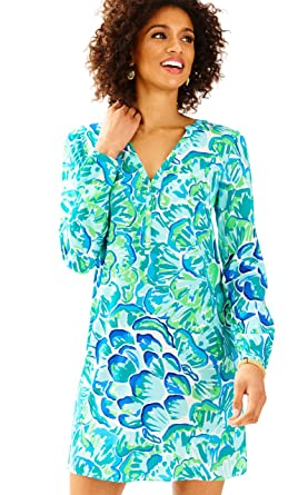 6fc14d251c7ab3 Lilly Pulitzer - Delphine Silk Tunic - Lazy River - XL at Amazon ...