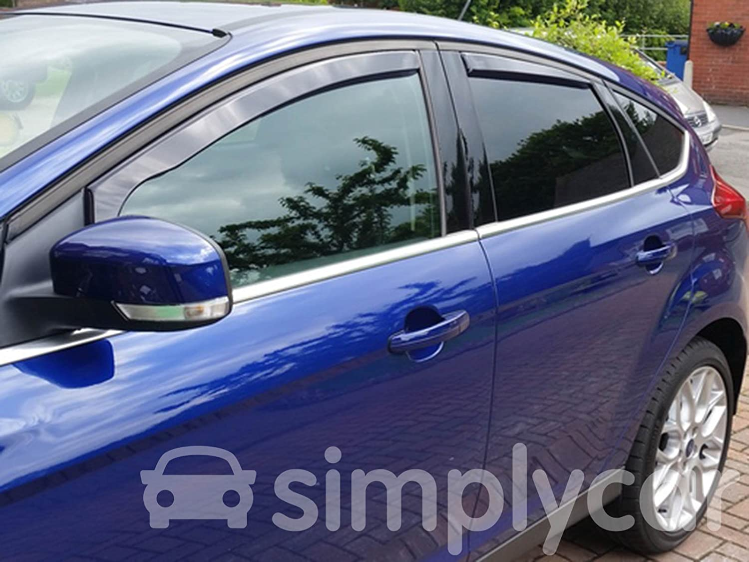 Tinted Acrylic Front and Rear Window Heko Wind Deflectors 4 Piece Set