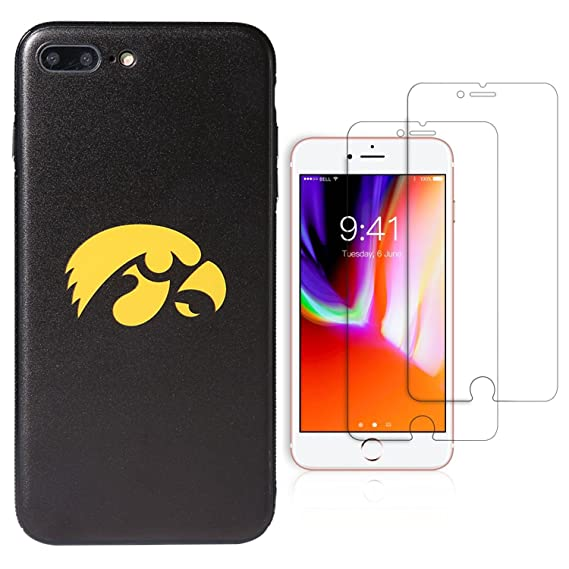 "online store 4dc76 f4ae5 Sportula NCAA Phone Case, iPhone 7 Plus/iPhone 8 Plus (5.5""), matching 2  Premium Screen Protectors Extra Value Set (Iowa Hawkeyes)"